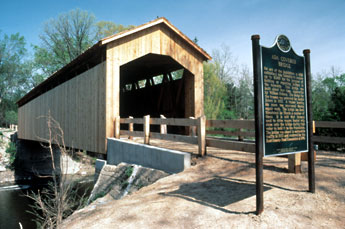 The Historic Ada Covered Bridge
